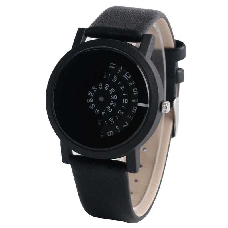Mode mænd armbåndsur rustfrit stål quartz ur sort trendy afslappet - Mænds ure - Foto 3
