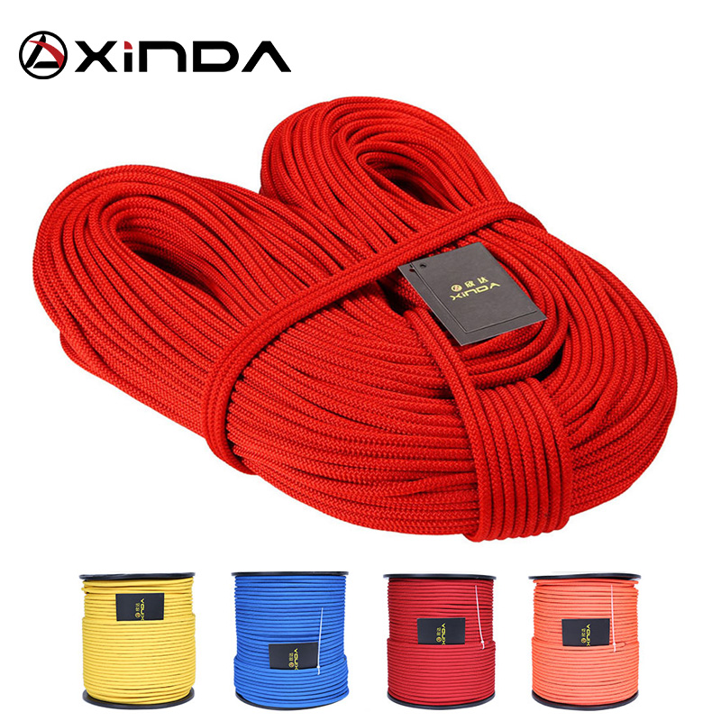 XINDA Escalada 10M XINDA Professionel Rock Climbing Rope 6mm Diameter High Strength Equipment Cord Sikkerhed Rope Survival Rope