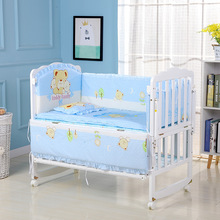 5pcs/set Infant Bedding Set Cotton Newborn Baby Crib Bumpers Safety Bed Fence Protector Baby Room Decor Bedding Bumpers ZT12