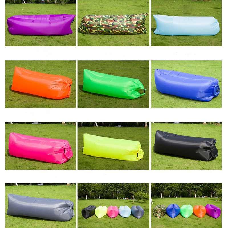 Luz saco de dormir À Prova D' Água saco sofá preguiçoso camping sacos de Dormir cama de ar Inflável Adulto Espreguiçadeira de Praia Dobrável CE2075/ 10