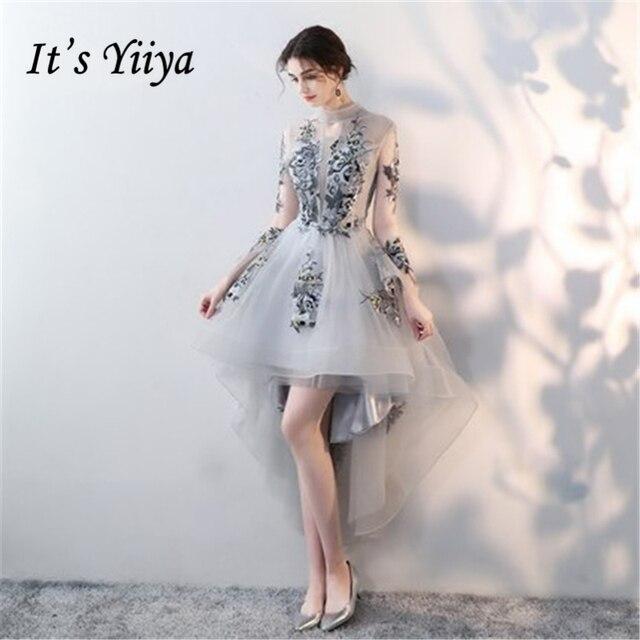 Это yiiya длинный рукав элегантной роскоши Вечерние платья Сексуальная спинки Кружево до цветок известный дизайнер вечерние торжественное платье lx219
