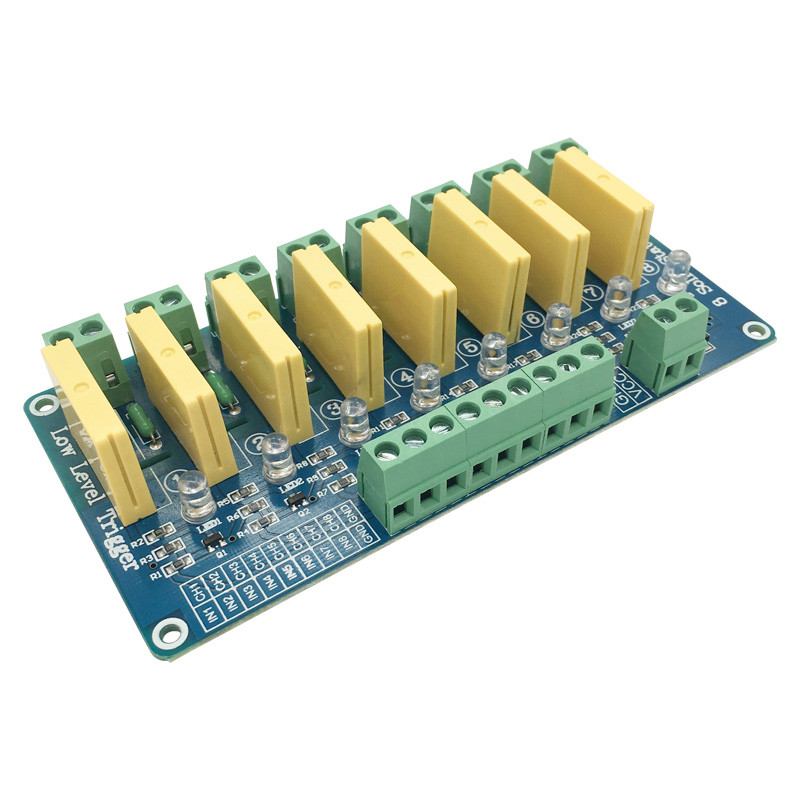 8 channel 5A low level trigger solid-state relay module 5V12V24V DC 40V5A FOR PLC automation equipment control