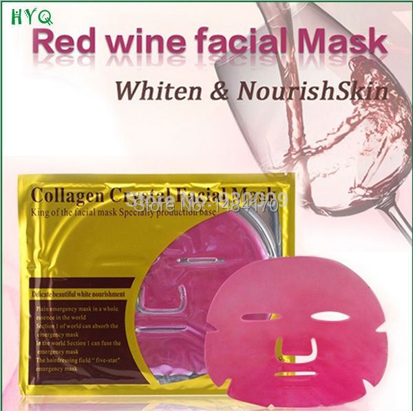 New Style Red Wine Facial Mask Collagen Crystal Whitening