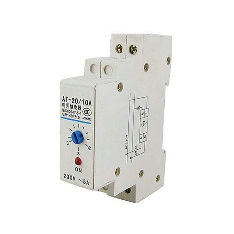 0.1-10s DIN Rail Mechanical Programmable Timer Switch 220V AC 5A Time Relay new digital lcd programmable timer 12v dc din rail time relay switch power drop ship