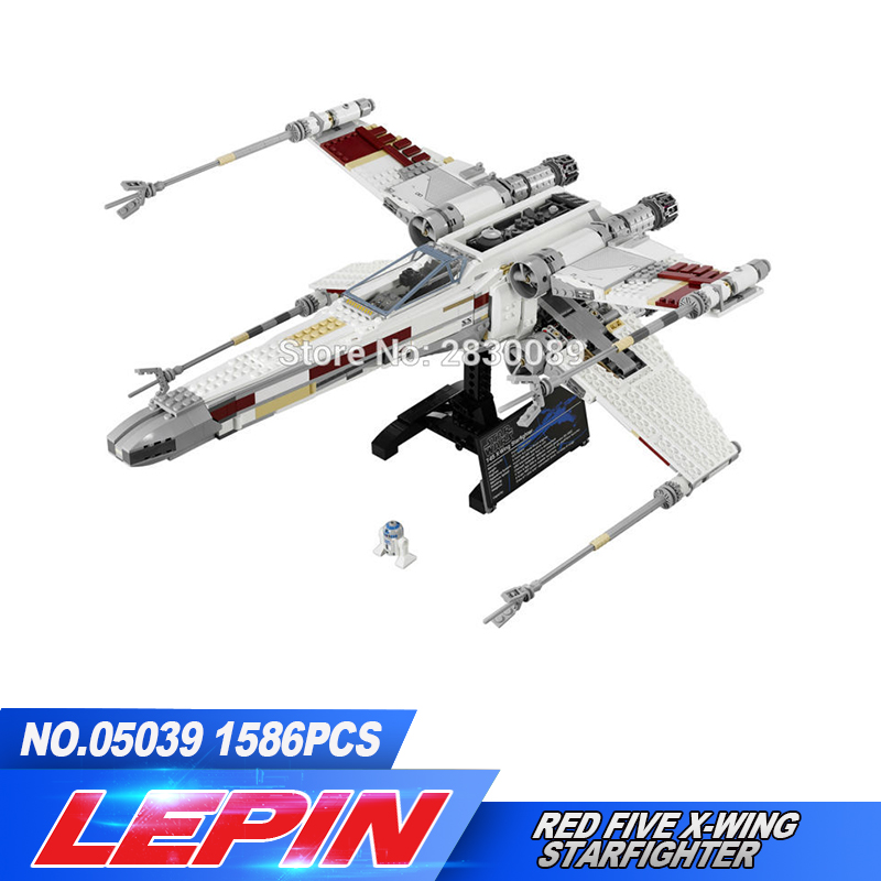 Здесь можно купить  New Lepin 1586pcs 05039 Genuine Series The X-wing Red Five Starfighter Set Building Blocks Bricks Toys 10240 legoed  Игрушки и Хобби