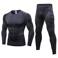 Men's Compression Sport Suits Quick Dry Running Sets Sports Joggers Basketball Training Gym Fitness Tracksuits Workout Tights