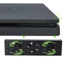 コンソールクーラーファンプレイステーション 4 スリム usb 外部 3 ファンターボ温度冷却 usb ケーブル PS4 スリムゲームコンソール