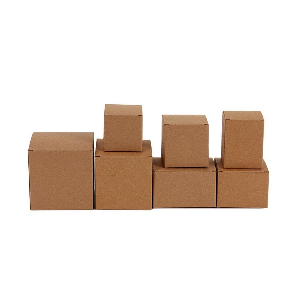 100pcs DIY Kraft Paper Candy Box Wedding Favors Gift Party Supply ...