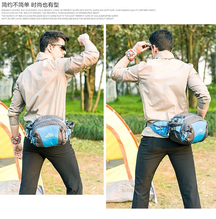 Men Women Sport Waist Bag Pack Backpack With Bottle Holder Outdoor Exploration Travel Casual Cycling Gym Storage Bag Packs (5)