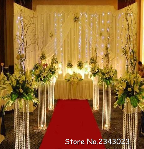 Wedding decoration acrylic crystal pillar aisle road lead for Acrylic decoration