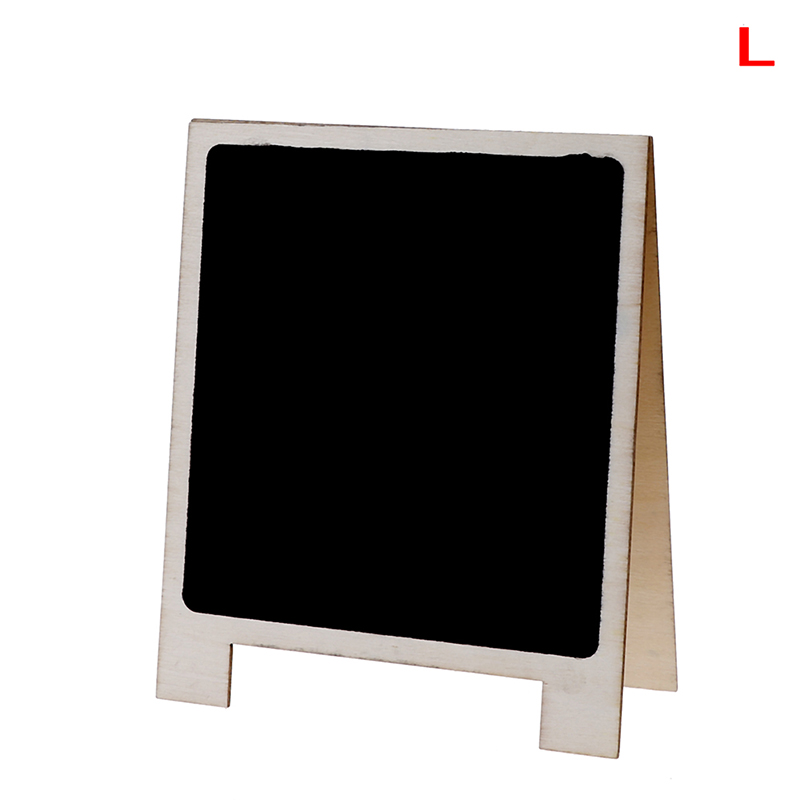 Desktop Writing Boards Wood Tabletop Chalkboard Double Sided Blackboard Message Board Stationery Office Supplies Size L