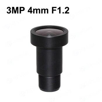 Envío gratis 3 megapíxeles fijo M12 CCTV Lens 4mm f1.2 85 grado 1/2 5 pulgadas para IMX226 IMX178 4 K IP cámara CCTV o cámara de acción 4 K