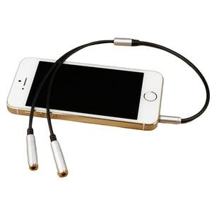 Качественный разъем для наушников 3,5 мм + аудио сплиттер с микрофоном, позолоченный удлинитель Aux, Кабель-адаптер, шнур для компьютера, ПК, микрофона