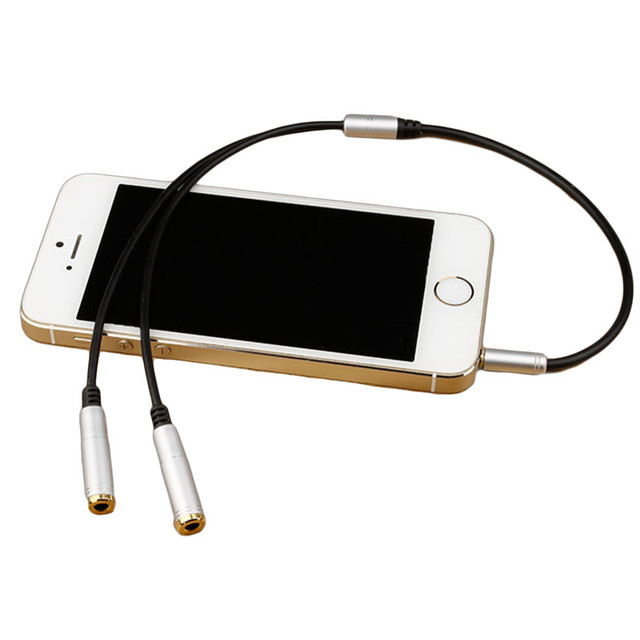 3.5mm Jack Headphone+Mic Audio Splitter Gold-Plated Aux Extension Adapter Cable Cord for Computer PC Microphone