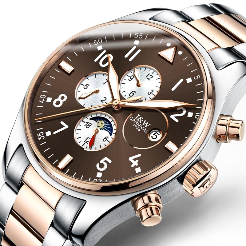 Carnival Top Brand Luxury Men Watches Automatic Mechanical Watch Men Sapphire reloj hombre Luminous relogio Wristwatch C8764G-7