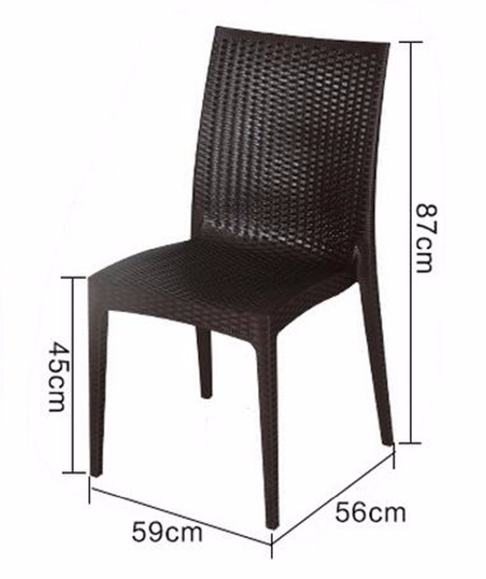 New Rattan Garden Furniture Dinner Chair Set Dining Chairs 4 pcs Black new pe rattan dining chairs with tempered glass
