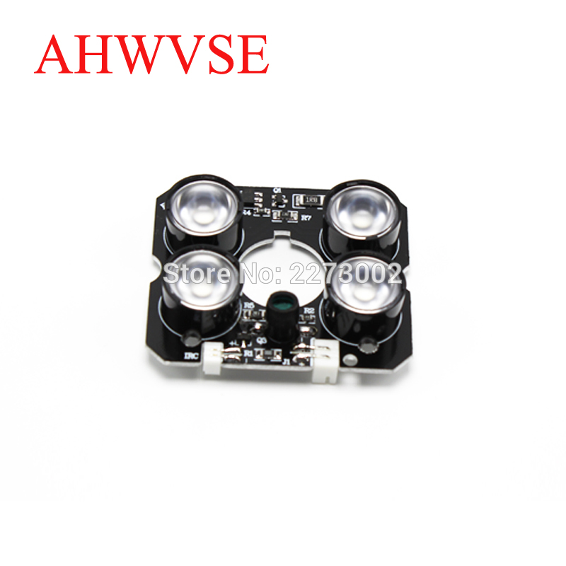 10pcs lot Security Camera LED IR Infrared Illuminator Board Plate with 4pcs array leds for 60