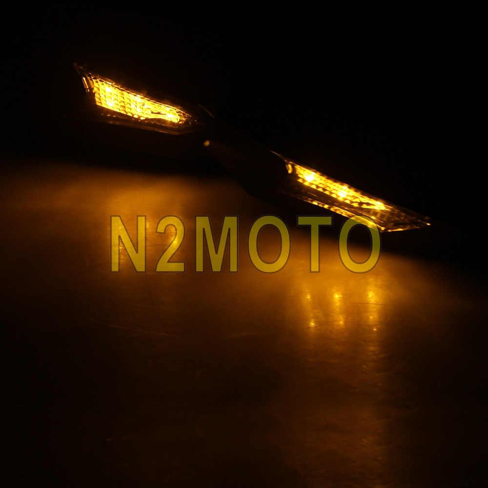 """Đen Bụi Bẩn Xe Đạp Motocross 7/8 """"Tay Cầm Bàn Chải Thanh Handguard 22 Mm Bảo Vệ Tay LED Tín Hiệu Đèn Báo Dành Cho Xe Honda KAWASAKI"""