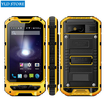 D'origine A8 IP68 A9 V9 Étanche Antichoc nfc Robuste smartphone MTK6582 Quad Core Android 4.4 1 gb RAM 8 gb 3g GPS Mobile Téléphone
