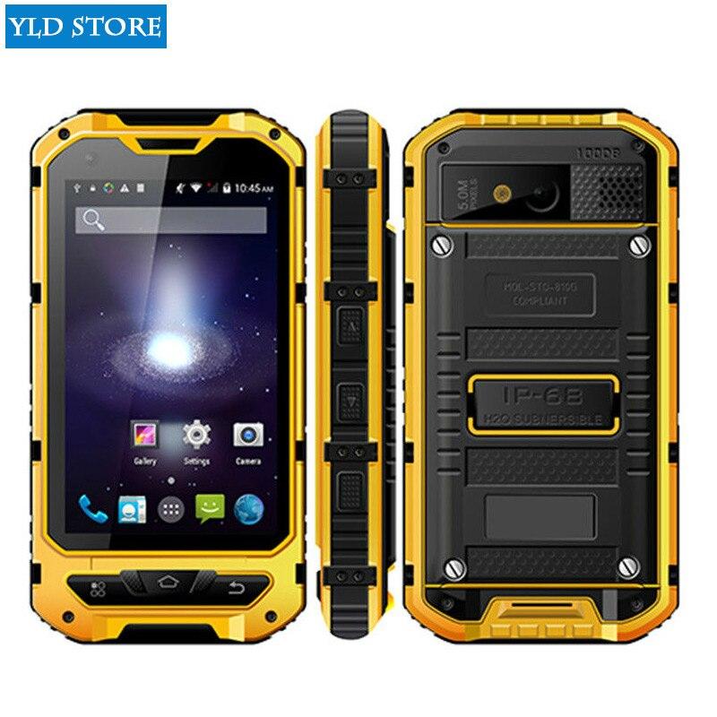 Original A8 IP68 A9 V9 MTK6582 nfc smartphones Robusto À Prova de Choque À Prova D' Água Quad Core Android 4.4 GB RAM 8 1 GB 3G GPS Do Telefone Móvel