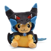 25cm Kawaii Pikachu Cosplay Charizard Cartoon Anime Plush Toys For Children Peluche Baby Stuffed Doll Gift For Kid Free Shipping стоимость