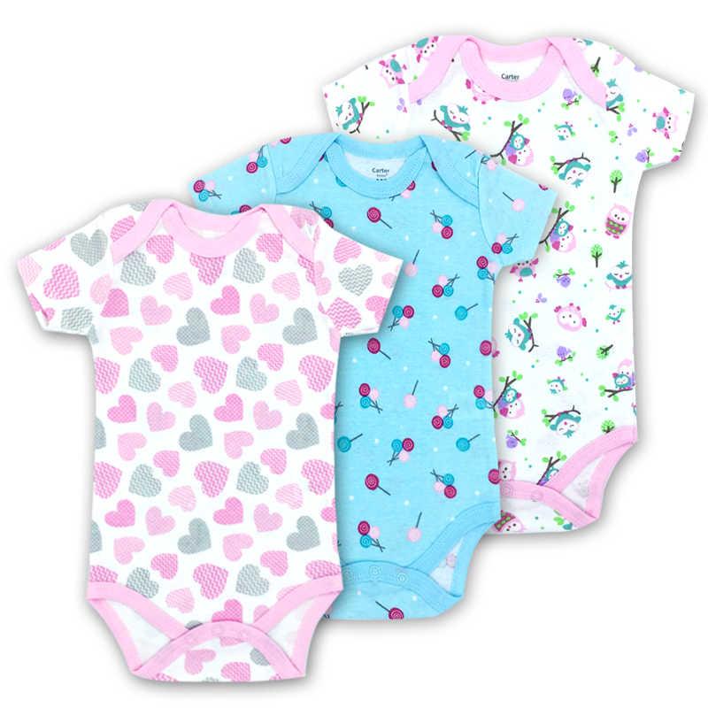 Комплект из 3 предметов; 100% хлопок; одежда с короткими рукавами для младенцев; аналогичный комбинезон с принтом; боди для маленьких мальчиков и девочек; Бесплатная доставка