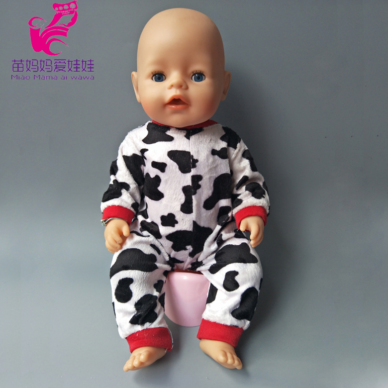 Doll cute cows set for 43cm Zapf Baby new Born Doll clothes Suit for 18 inch