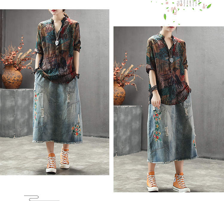 V Fashion Neck Chiffon 12