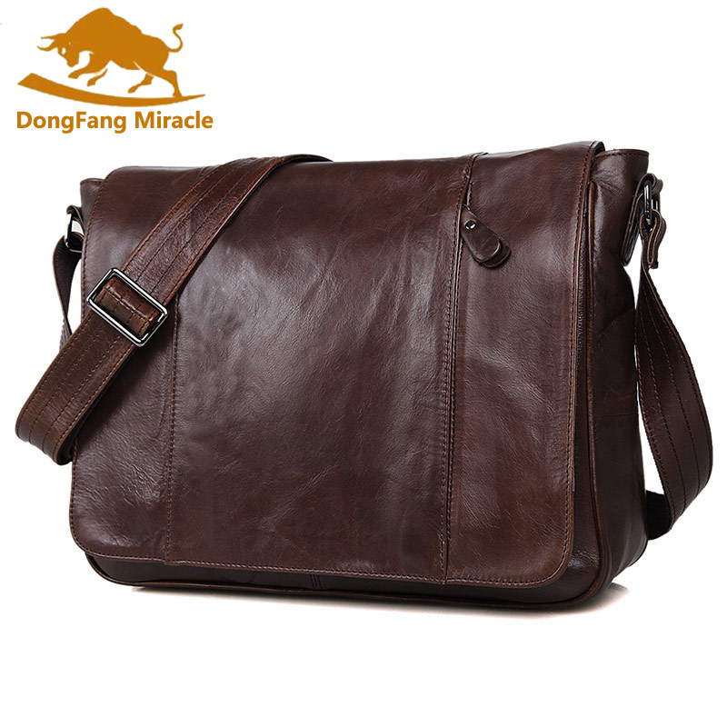 100 Genuine Leather Men bag men messenger bags mens leather crossbody bags men s travel bag