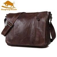 Men Messenger Bag Vintage Top Layer Leather Shoulder Bag Men S Crossbody Bag