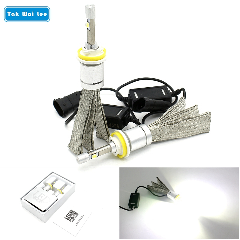 Tak Wai Lee 2X 40W 4800LM 6000K R3 LED Car Headlight Styling Source IP68 H1 H4 H7 H11 H13 9005 9006 9004 9007 Front Fog Light tak wai lee 1pcs usb led mini wireless car styling interior light kit car styling source decoration atmosphere lighting 5 colors
