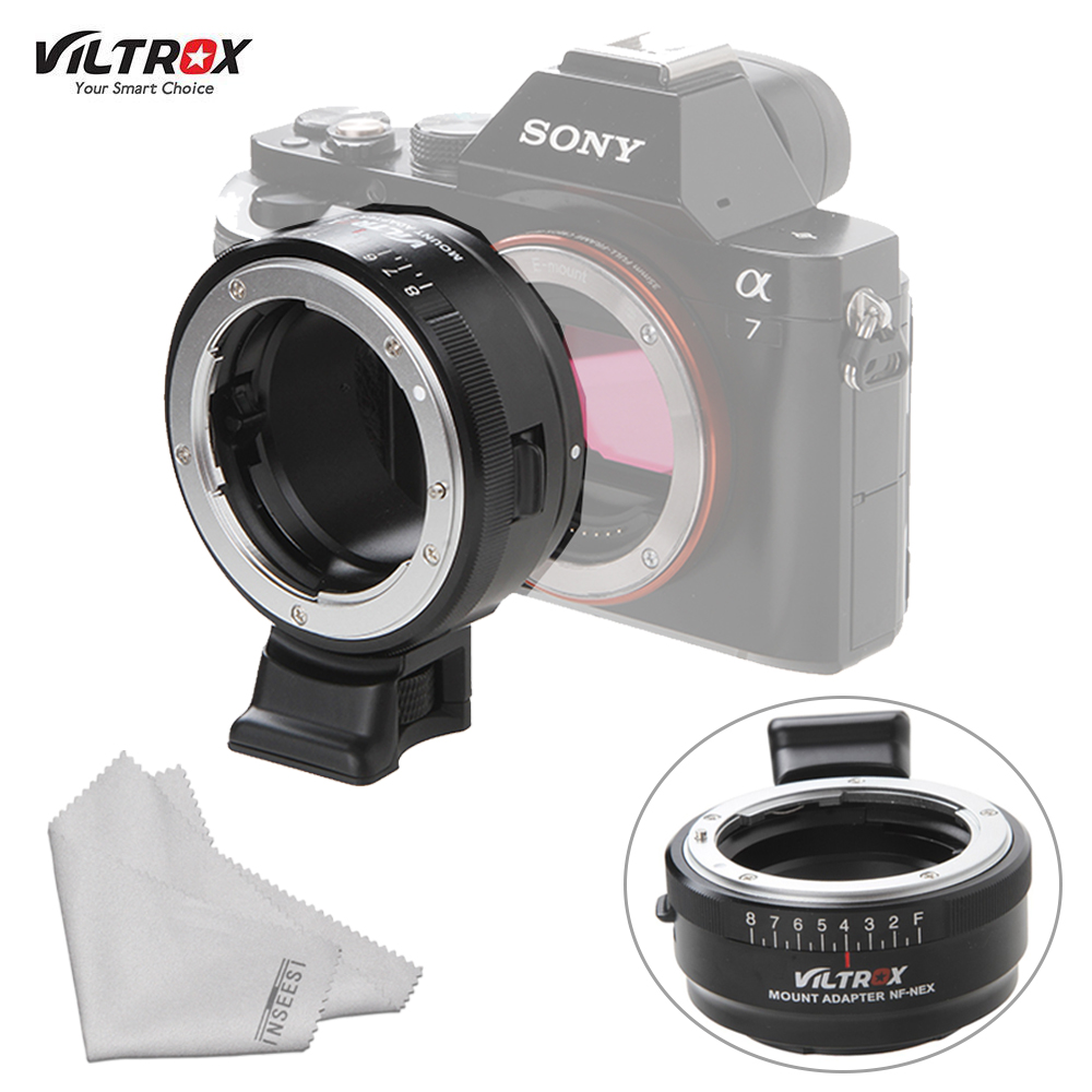 VILTROX NF-NEX Mount Lens Adapter W/Tripod Mount Aperture Ring for Nikon F/AF-S/AI/G Lens to Sony E Mount A7S A7RII DSLR Cameras givenchy khol couture waterproof карандаш для глаз водостойкий 05 зеленый