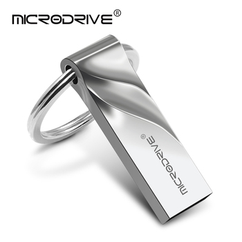 High Speed USB Flash drive Metal usb stick pen drive USB 2.0 Flash Drives 128GB 64GB 32GB flash disk Waterproof With Key Ring