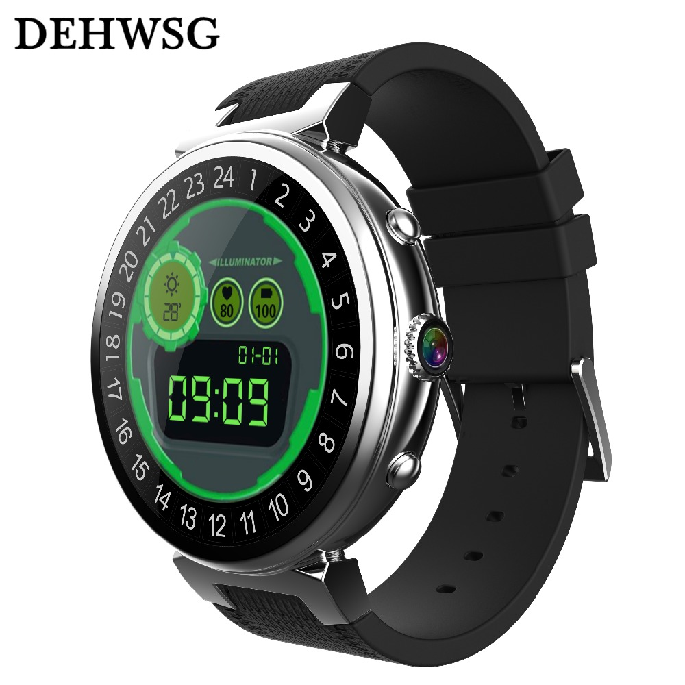Heart Rate Monito Smart Watch i3 RAM 2GB ROM 16GB 2MP Camera Android 5.1 3G WIFI GPS Smartwatch For apple Android IOS Phone цена