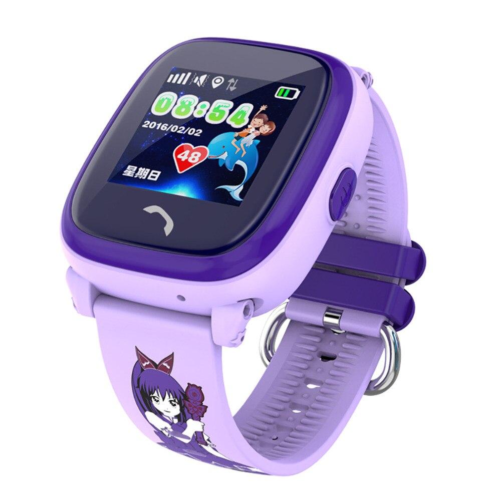 imágenes para DF25 Smartwatch Niño Nadar IP67 GPS táctil teléfono reloj inteligente Dispositivo de Localización de Llamadas SOS Tracker Niños Seguro Anti-Perdido Monitor PK Q50