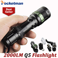 LED Flashlight 2000 Lumens Q5 3 modes keychain Tactical Flash Lights LED Torch Lanterna Torche Lampe Zoomable ZK93