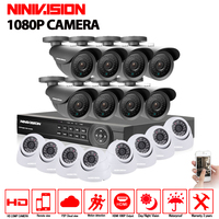 1080P AHD Camera 16CH System Kit CCTV 16 Channel AHD DVR Recorder IR Outdoor Nightvision Bullet