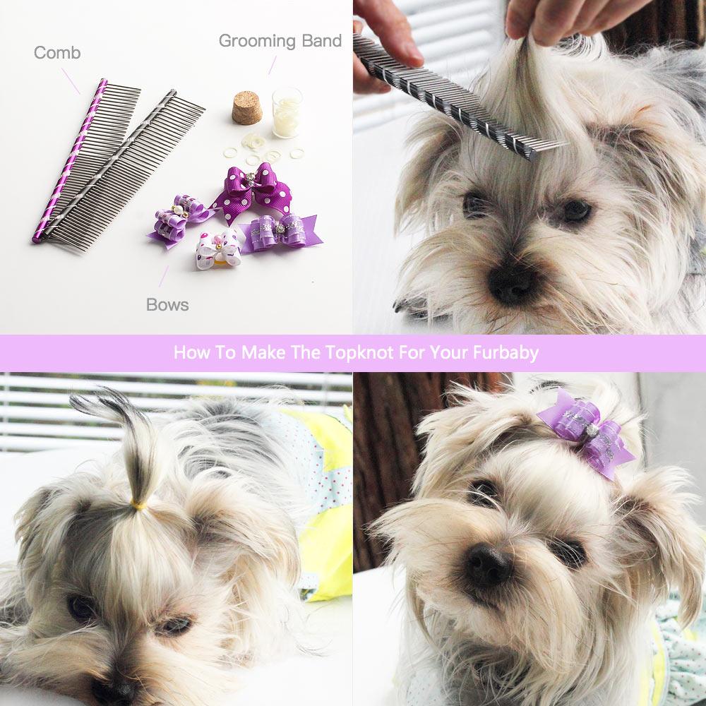 20/50/100 Pcs Handmade Pet Grooming Aksesoris Produk Anjing Busur - Produk hewan peliharaan - Foto 2
