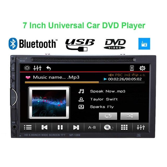 Best 7 Inch 2 Din Car Dvd Player Ui Bluetooth Multimedia Car Audio
