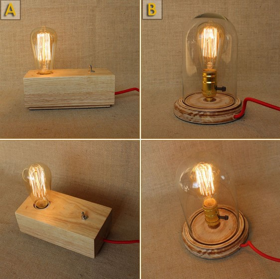 Industrial Loft Vintage Table Lamps For Bedroom Living Room Wood Table Lamp,Luminaria Lamparas Abajur De Mesa novelty pipe led table lamps for bedroom living room in industrial loft style iron wrount table lamp lampara de mesa