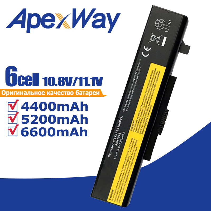 11.1V Laptop Battery For LENOVO Y480 L11L6Y01 L11L6F01 L11L6R01 L11M6Y01 L11N6R01 L11N6Y01 L11P6R01 L11S6F01 L11S6Y01 45N1048