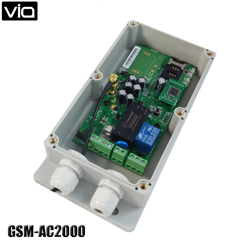 VIA GSM-AC2000 Free Shipping GSM Remote Control Board Automatic Door (Quad Band Big Memory) AC2000 Type