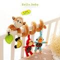 Bebê novo reino unido hot bed hanging bebê infantil educacional dos desenhos animados padrão de macaco chocalhos toys presente