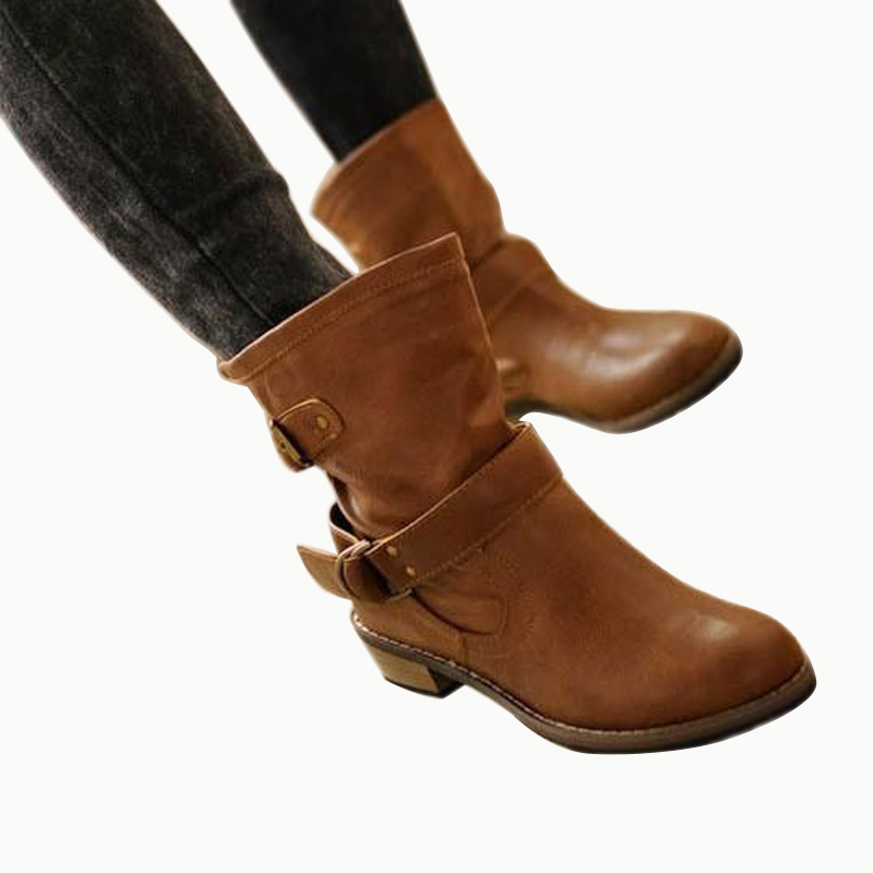 ФОТО 2015 new autumn winter women boots fashion buckle strap motorcycle boots ankle boots for women martin boots botas femininas DT07