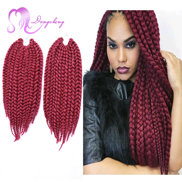 14 inch 3S Box Braids Hair Pretwisted Short Crochet Braids Extensions ...