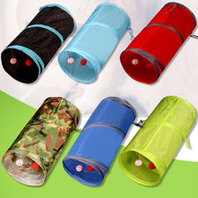 6 Color Funny Pet Cat Tunnel Collapsible Crinkle 2 Holes Play Tubes Balls Kitten Toys Puppy Ferrets Rabbit Dog
