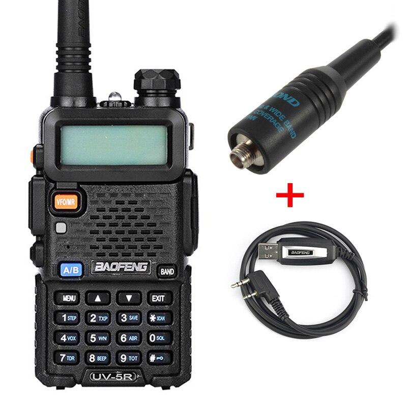 Baofeng UV5R Radio bidirectionnelle double bande UV5R Radio talkie-walkie CB Radio avec programmation USB et antenne RH-771 - 2