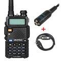 Baofeng uv5r rádio em dois sentidos dual-band uv5r ham radio walkie talkie cb rádio com programação usb e rh-771 antena