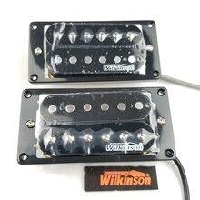 Selkinson captadores de guitarra elétrica, bobina dupla aberta preta (par ponte e pescoço)