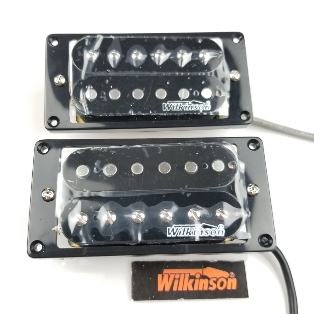 Wilkinson Black open Double coil Electric Guitar Humbucker Pickups (Bridge & Neck Pair) Free Shipping wilkinson guitar accessories st electric guitar three single coil pickup all colors can be customized real photos free shipping